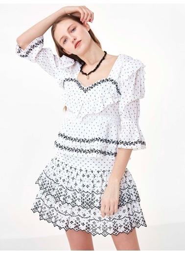 Twist Bluz Beyaz